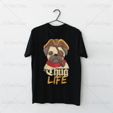Pug Pirate Thug Life Animal T Shirt Design