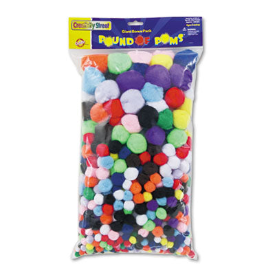 POMPONS,1 POUND PACK,AST