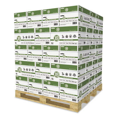 X-9 MULTI-USE COPY PAPER, 92 BRIGHT, 20LB, 8.5 X 11, WHITE, 500 SHEETS/REAM, 10 REAMS/CARTON, 40 CARTONS/PALLET