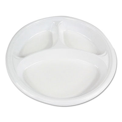 "PLATE,3 COMPRTMNT,10"",WH"