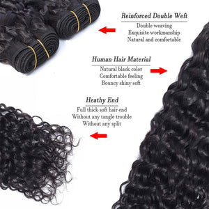 Riverwood 8A Water Wave Brazilian Human Hair Extension Natural Black Color