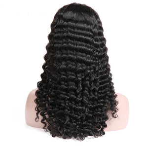 Brazilian 13x4 Lace Front Wigs  Deep Wave Human Hair Wigs