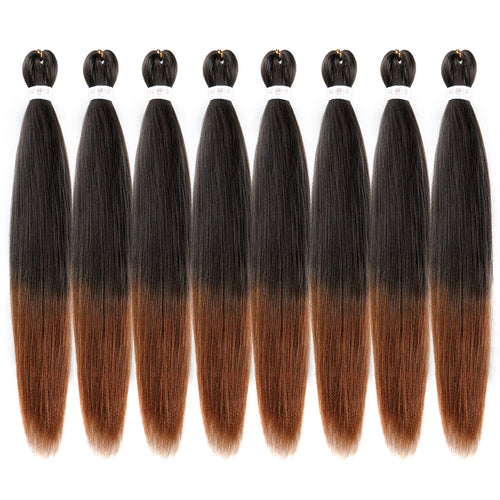 Pre-stretched EC Braid Professional Braiding Hair Extension Ombre Yaki Synthetic Hair (#1B/30)