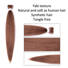 Load image into Gallery viewer, Pre-stretched EZ Braid Pre Stretched Braiding Hair 30# Professional Hair Yaki Synthetic Hair
