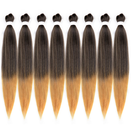 Pre-stretched EC Braid Professional Braiding Hair Extension Ombre Yaki Synthetic Hair (#1B/27)
