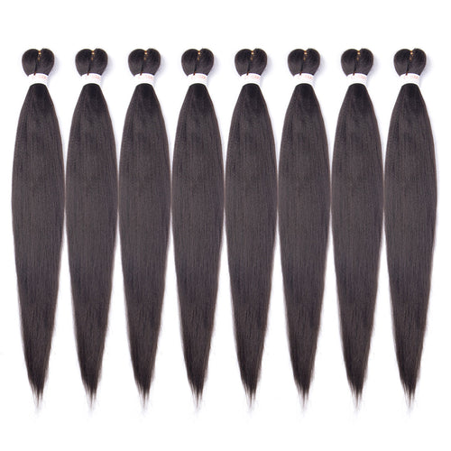 EC Braid Pre Stretched Braiding Hair 1b# Professional Hair Yaki Synthetic Hair