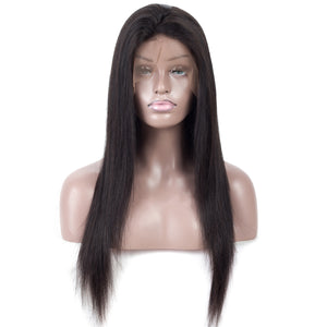 Brazilian Straight Wigs 13x4 Lace Front 150% Density Pre-Plucked Virgin Human Hair