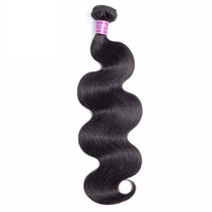 Body Wave Brazilian Human Hair (Optional Closure) - Natural Black Color