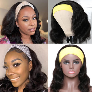 Riverwood Body Wave Headband Wigs Brazilian Glueless Human Hair Wigs Natural Color