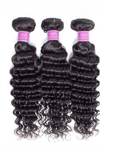Load image into Gallery viewer, 3 Bundle Deals 8A Deep Wave Virgin Hair
