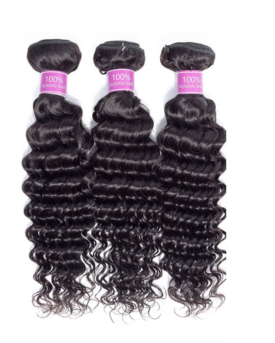3 Bundle Deals 8A Deep Wave Virgin Hair