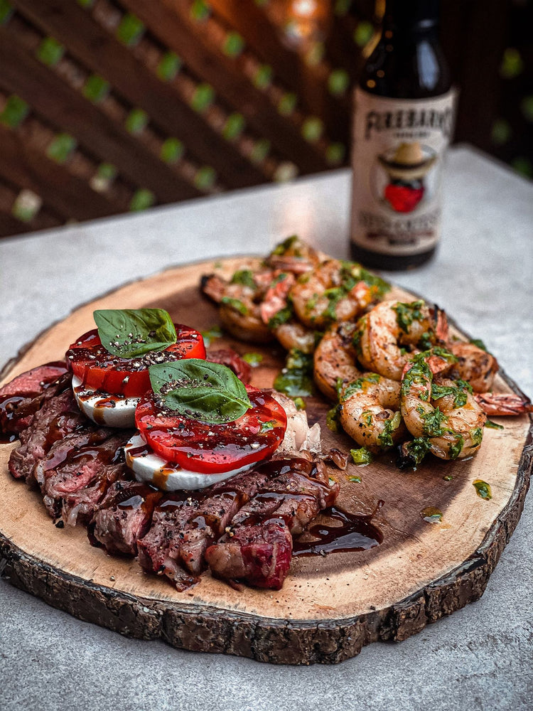 RIBEYES CAPRESE FIREBARNS SUD-OUEST & CREVETTES GRILLÉES