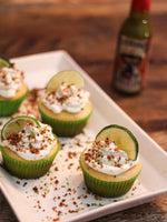 CUPCAKES À LA KEY LIME PIE, FIREBARNS TEQUILA LIME