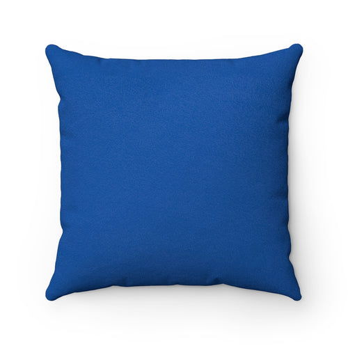 Breathe Mindful Blue Faux Suede Throw Pillow Cover - Pillow Treat