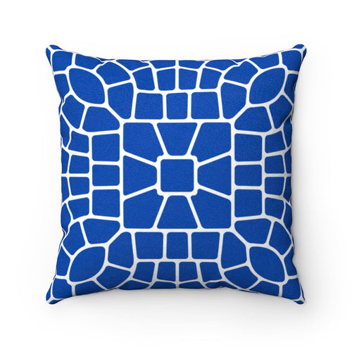 Ancient Cobalt Faux Suede Throw Pillow Cover - Pillow Treat