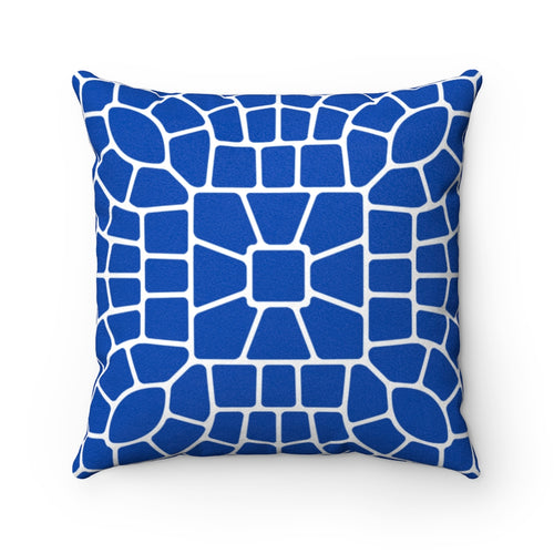 Ancient Cobalt Faux Suede Throw Pillow & Insert - Pillow Treat