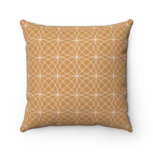 Corva Bronze Faux Suede Throw Pillow & Insert - Pillow Treat
