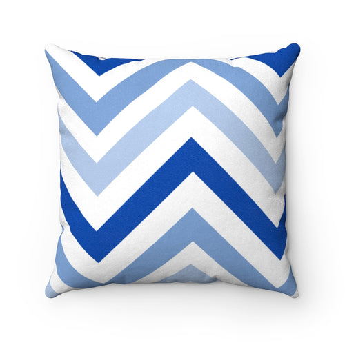 Faded Navy Waves Faux Suede Throw Pillow & Insert - Pillow Treat