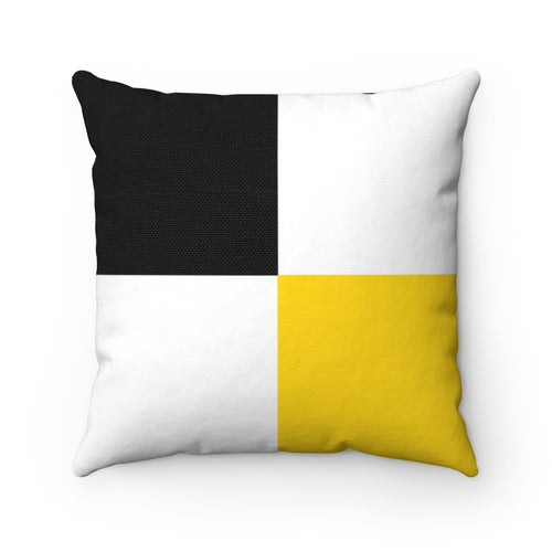Black & Gold Symmetrical Box Polyester Throw Pillow Cover - Pillow Treat