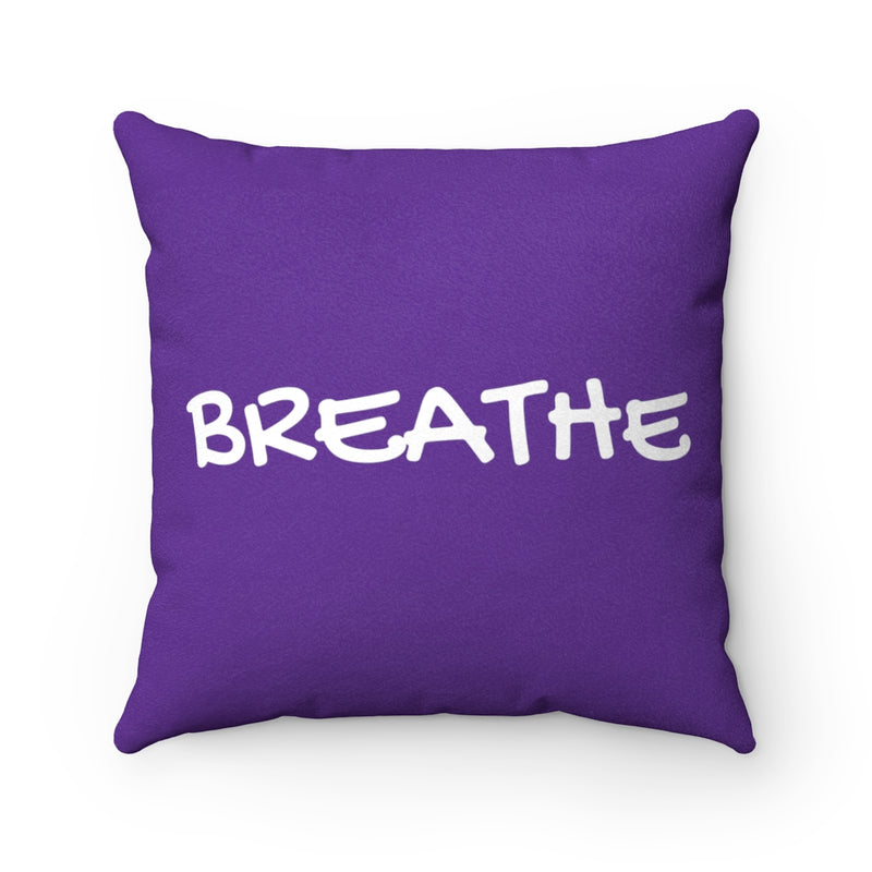 Breathe Deep Purple Faux Suede Throw Pillow Cover-Pillow Treat