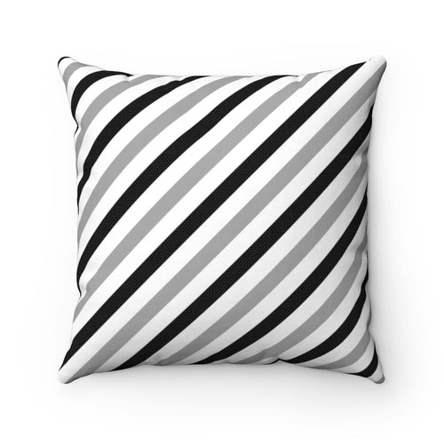 Black and White Striped Polyester Throw Pillow Cover - Pillow Treat