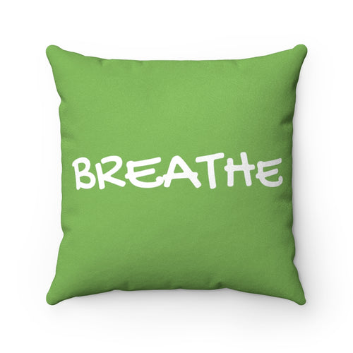 Breathe Nature Green Faux Suede Throw Pillow & Insert - Pillow Treat