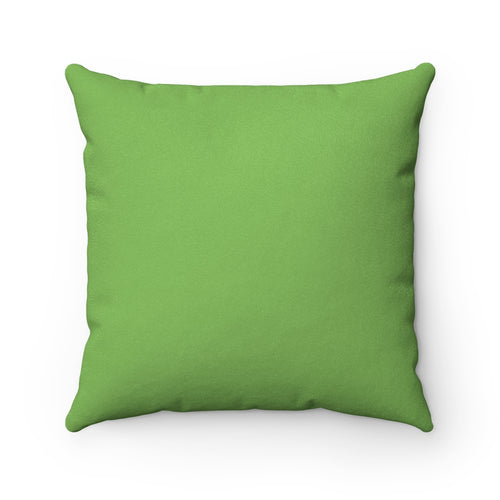 Breathe Nature Green Faux Suede Throw Pillow Cover - Pillow Treat