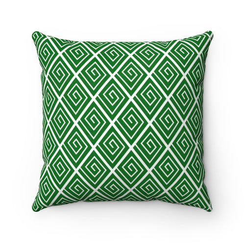Diamond Spiral Faux Suede Throw Pillow & Insert - Pillow Treat