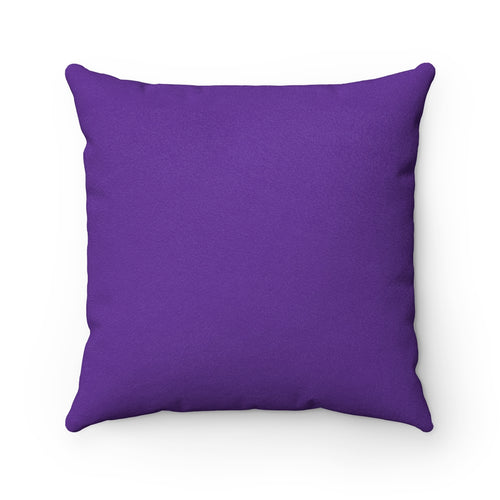 Breathe Deep Purple Faux Suede Throw Pillow Cover - Pillow Treat
