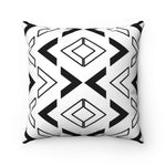 Black and White Arrow Pattern Polyester Throw Pillow & Insert - Pillow Treat