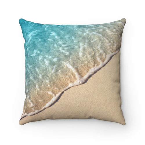 Beach Shore Polyester Throw Pillow Cover - Pillow Treat
