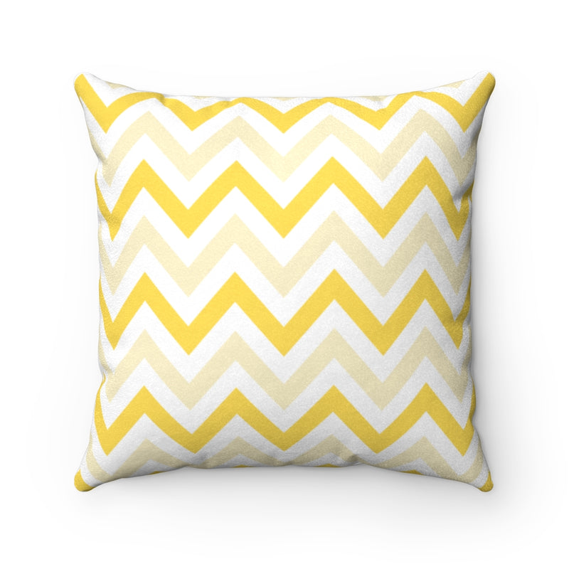Sunny Chevron Faux Suede Throw Pillow & Insert-Pillow Treat