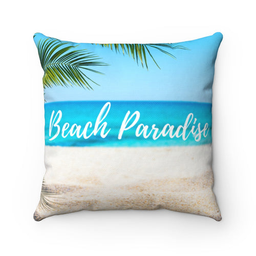 Beach Paradise Polyester Throw Pillow Cover - Pillow Treat