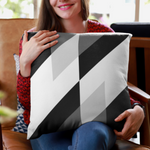 Triangle Overlap Polyester Throw Pillow Cover - Pillow Treat