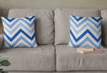 Faded Navy Waves Faux Suede Throw Pillow & Insert-Pillow Treat