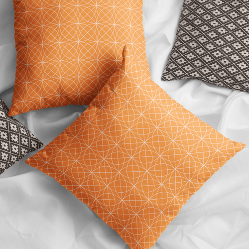 Corva Orange Faux Suede Throw Pillow Cover - Pillow Treat