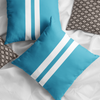 Sailor Blue Faux Suede Throw Pillow Cover-Pillow Treat