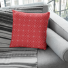 Corva Red Faux Suede Throw Pillow Cover - Pillow Treat