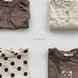 Crepe Button Tee
