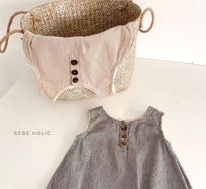 Baby Robin 2 piece Set Romper with Bonnet