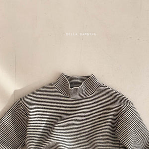 Bella Stripe Turtleneck Tee