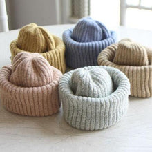 Load image into Gallery viewer, Bow Wool Ribbed Beanie - OYlalakids