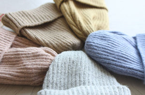 Bow Wool Ribbed Beanie - OYlalakids