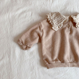 Dot Collar Sweater - OYlalakids