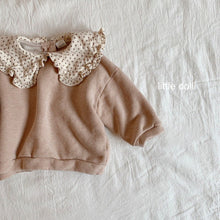 Load image into Gallery viewer, Dot Collar Sweater - OYlalakids