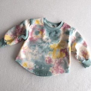 Tie Dye Earth Sweatshirt - OYlalakids