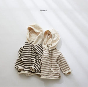 Bo Striped Hooded Sweatshirt