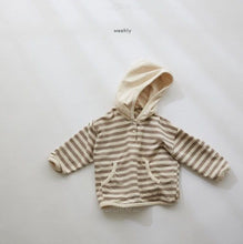 Load image into Gallery viewer, Bo Striped Hooded Sweatshirt