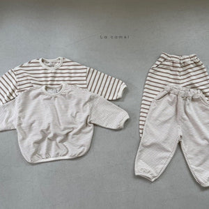 Lina Striped Top & Bottom Set