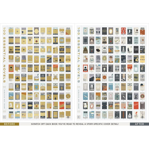 "100 Essential Novels To Read Scratch-off Chart - 18"" x 24"""